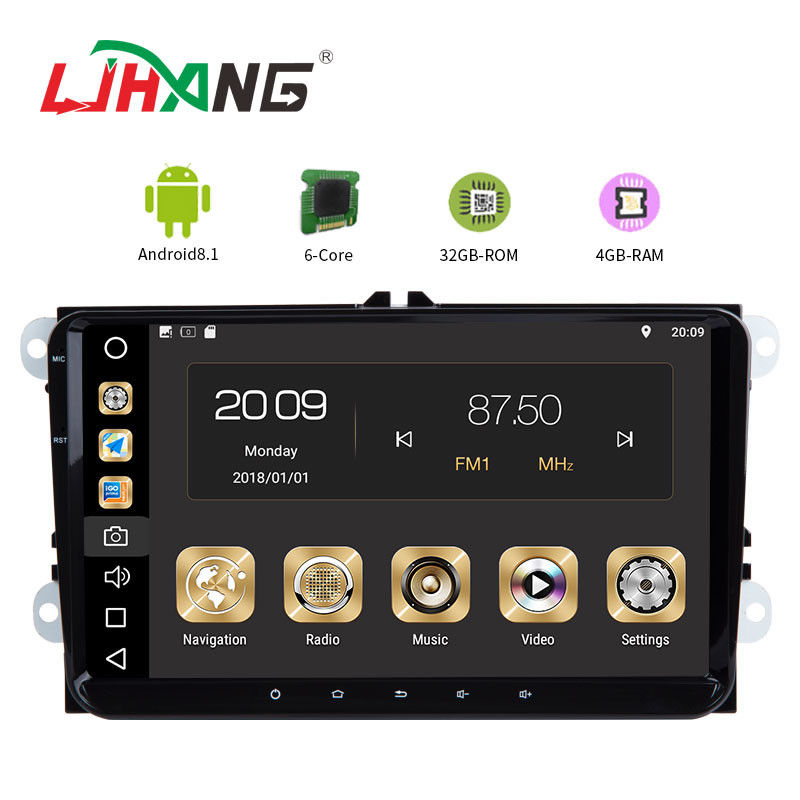 Android 8.1 Car Dvd Player For Volkswagen Canbus Radio GPS 3G WIFI USB Map