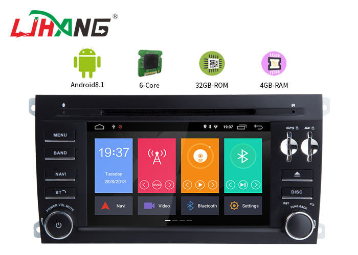 Android 8.1 Porsche Cayenne Android Touch Screen Car Radio Free Map Card